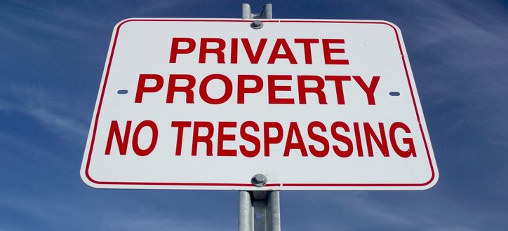 Private Property Sign Florida Trespassing